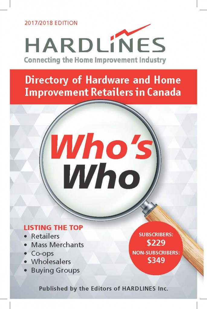 Hardlines 2017/2018 Who's Who Directory of Hardware and Home Improvement Retailers in Canada