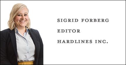 Sigrid Forberg, Editor, Hardlines Inc.