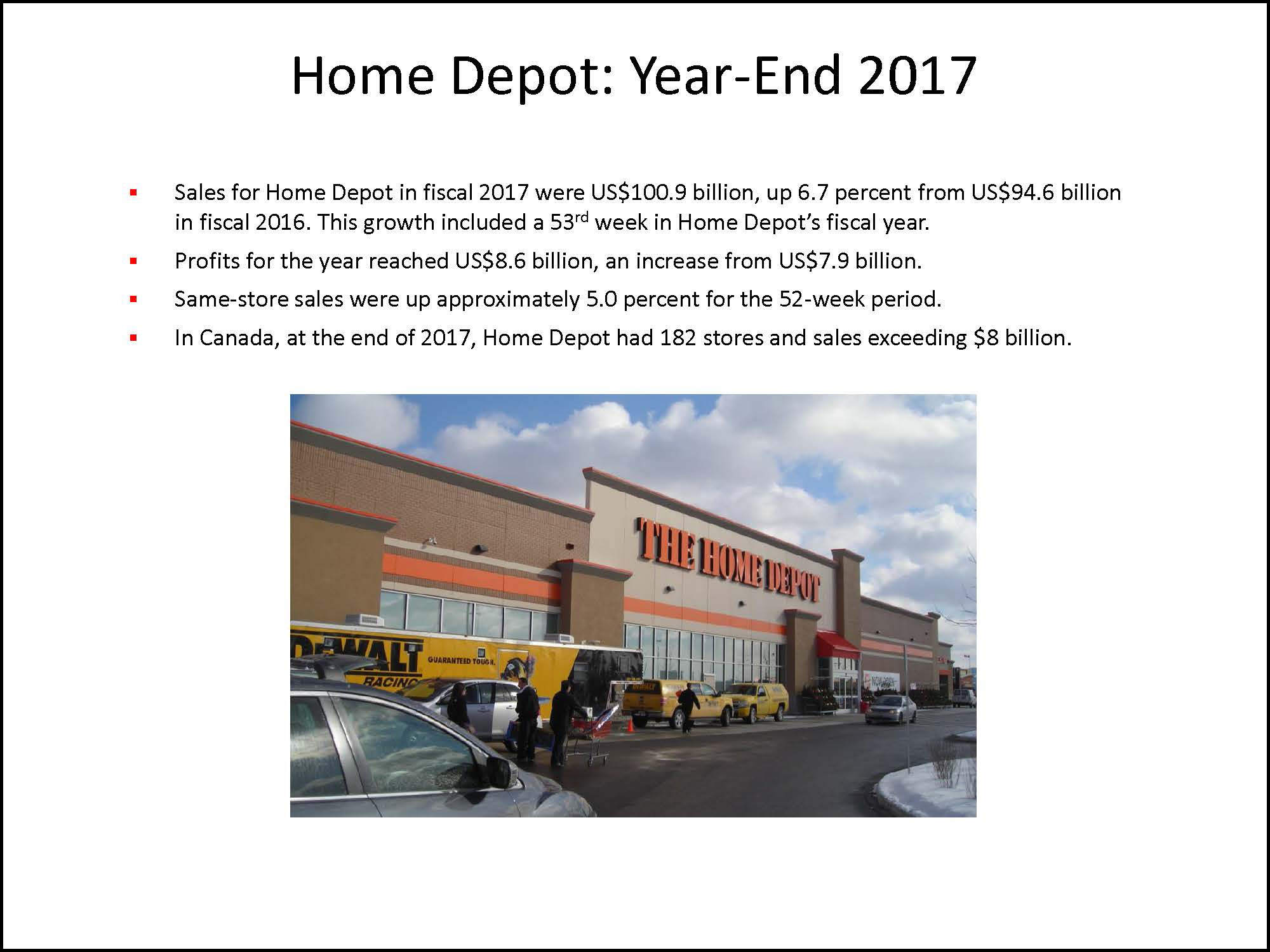 Hardlines Retail Report Slide Example