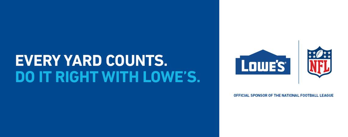 Lowe S Signs As Home Improvement Retail Sponsor Of Nfl Hardlines