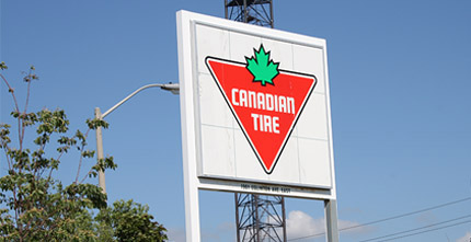 Canadian Tire Store Sign